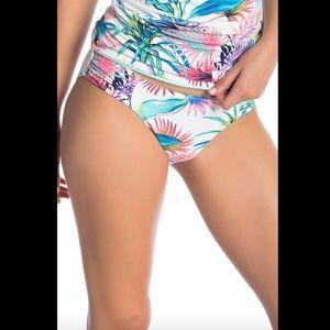 NEW Tommy Bahama Reversible Shirred Bikini Bottoms
